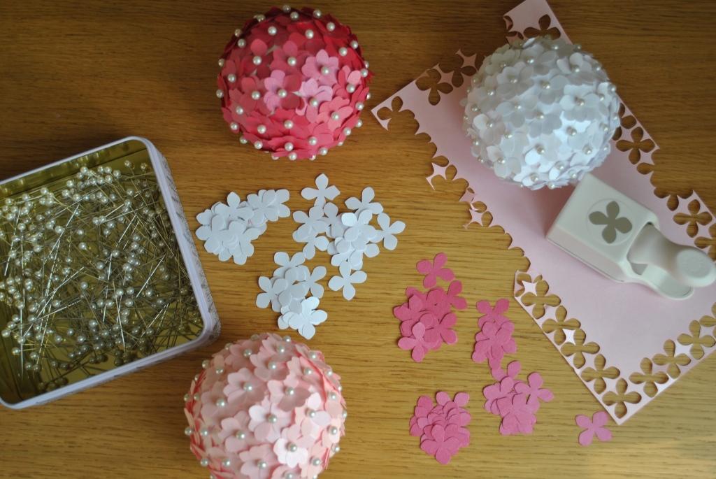 paper hydrangeas pomander