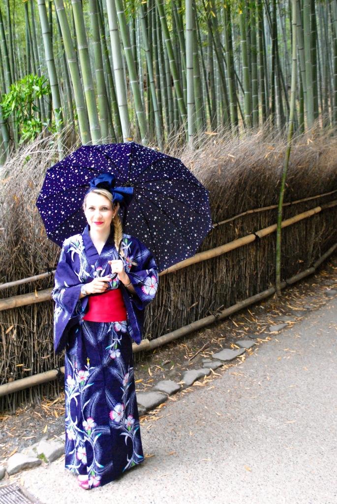 Bamboo forest Kyoto madamedaniel yukata kimono