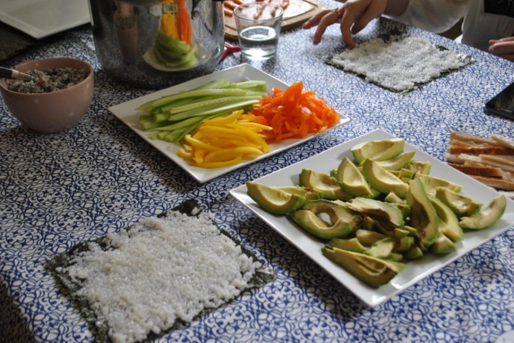 sushi party madamedaniel fête japonaise