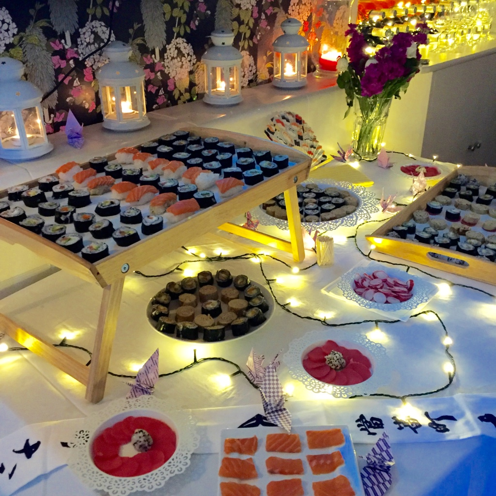 sushi party madamedaniel fête japonaise