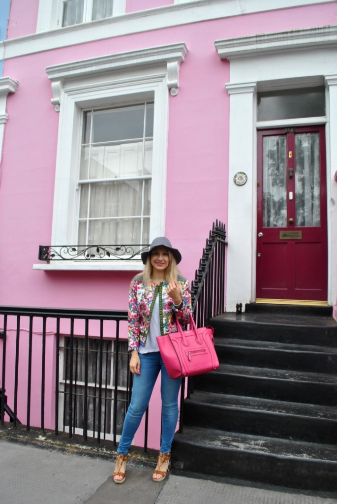 zaful jacket pink celine bag nottin hill madamedaniel