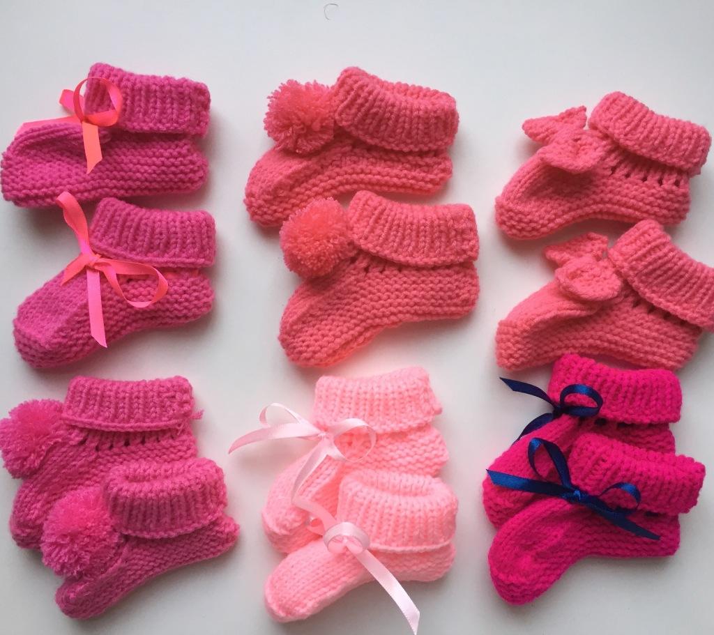 madamedaniel designs tricot chaussons baby bootie handmade