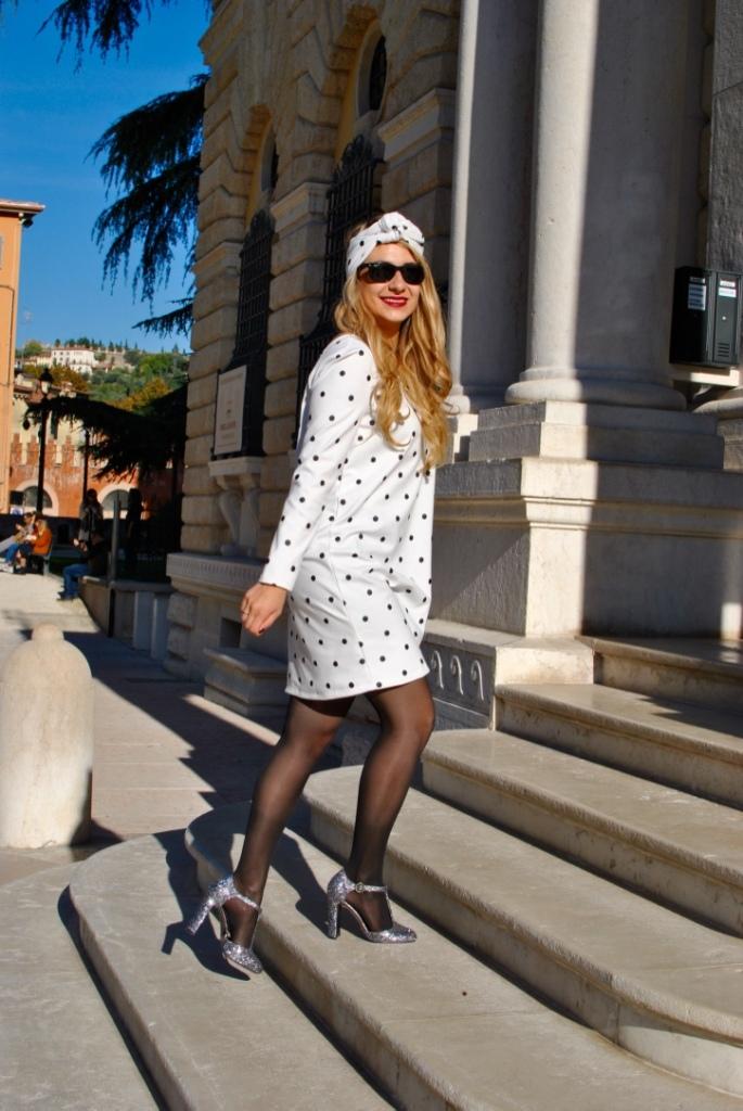 robe à pois faite main blog couture madamedaniel jersey dress sewing dress pattern, sewing blog verona travel blog